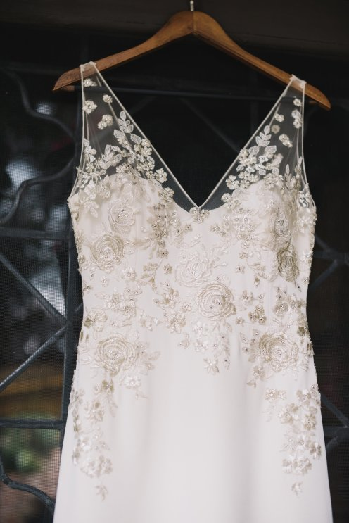 Hummingbird Nest Ranch - Elegant Fall Wedding - Lian Carlo Dress