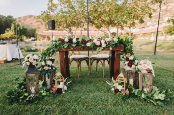 Hummingbird Nest Ranch - Elegant Fall Wedding Sweetheart Table