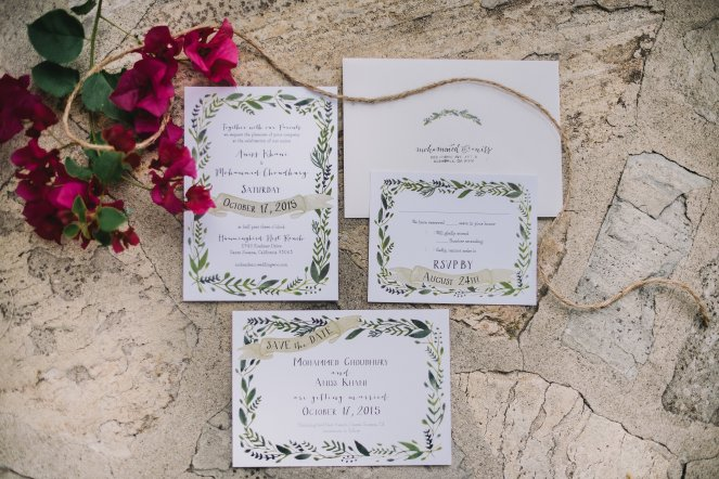 Hummingbird Nest Ranch - Elegant Fall Wedding - Invitation