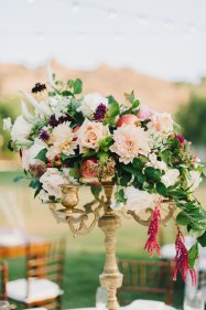 Hummingbird Nest Ranch - Elegant Fall Wedding Centerpiece