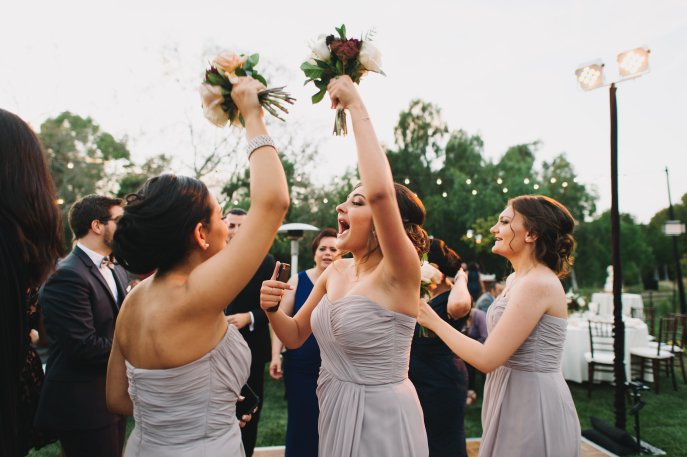 Hummingbird Nest Ranch - Elegant Fall Wedding - Bridesmaids Dancing