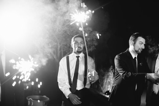 Hummingbird Nest Ranch - Elegant Fall Wedding - Sparklers