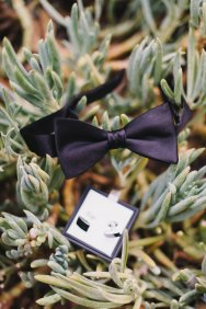 Hummingbird Nest Ranch Wedding - Groom's Bow Tie + Cufflinks