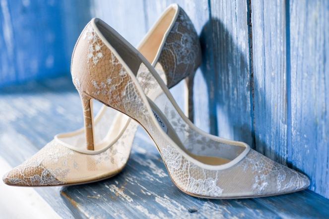 Hummingbird Nest Ranch Wedding - Jimmy Choo Bridal Shoes