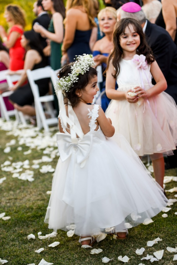 Hummingbird Nest Ranch Wedding - Flower Girls