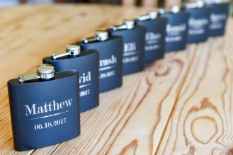 Hummingbird Nest Ranch Wedding - Groomsmens' Gifts, Personalized Flasks