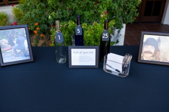 Hummingbird Nest Ranch - Wedding Guestbook Wine Bottles