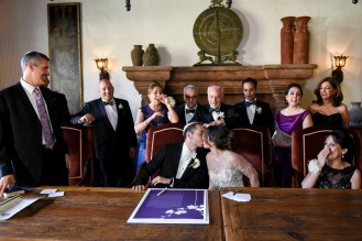 Hummingbird Nest Ranch - Jewish Wedding Ketubah Signing