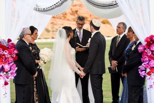 Hummingbird Nest Ranch - Jewish Wedding Ceremony with Chuppah and Sparklers