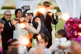 Hummingbird Nest Ranch - Jewish Wedding Ceremony with Chuppah and Sparklers